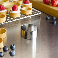 "Fat Daddio Pastry Ring - 2"" x 1"" (Stainless Steel)"
