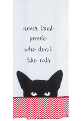 Purr Tea Towel Never Trust