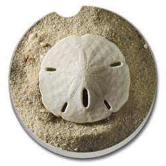 Car Coaster - Sand Dollar on Sand