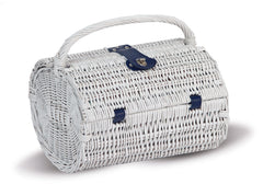 Oak & Olive Brinton Two Person Picnic Basket (Blue Peacock)