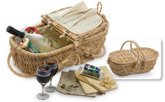 Oak & Olive Eco Friendly Wine & Cheese Basket