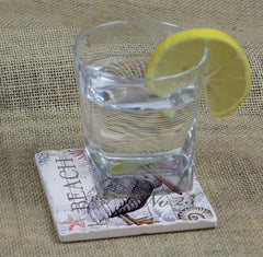 Absorbent Stone Coaster - Harbor Life