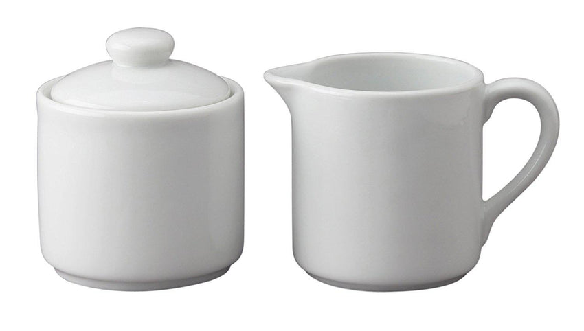Sugar & Creamer Set Porcelain