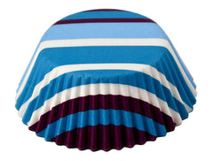 Bake Cups Purple/Blue Stripe