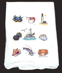 Flour Sack Towel Ocean Delight