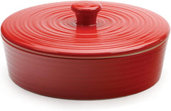"Tortilla Warmer Stoneware - 8"" Red"