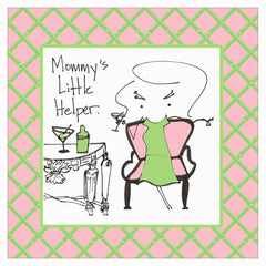 Cocktail Napkin, Mommy's Little Helper
