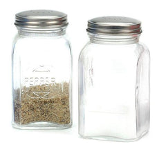 RSVP Retro Salt & Pepper Shakers - Clear