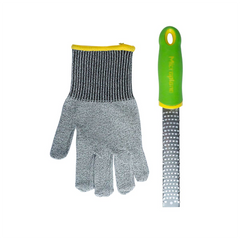Microplane Kid's Zester & Cut Resistant Glove Set