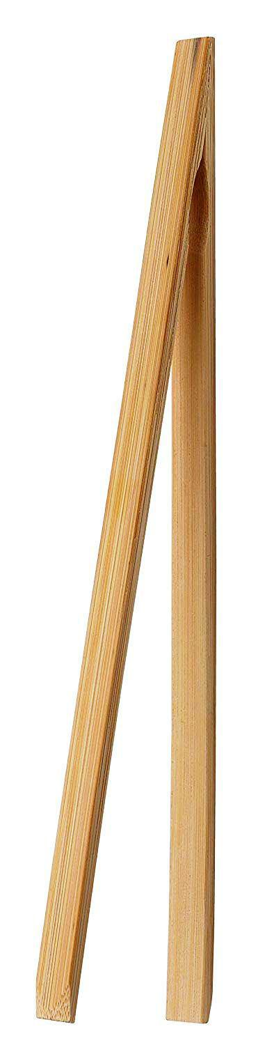 Bamboo Toast Tongs 12""
