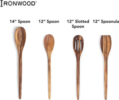 "Ironwood Wilmington Slotted Spoon - 12"" (Acacia)"