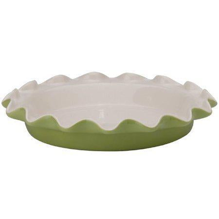 Rose's Pie Plate Sage Ceramic