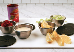 Condiment Cups w/Lids - Stainless Steel (Set of 4)