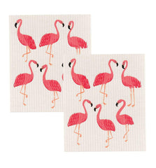 Swedish Dishcloth Flamingos