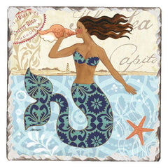 Absorbent Stone Coaster - Mermaid Call