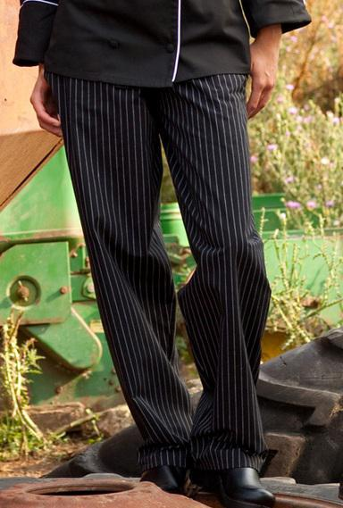 Women's Chef Pant Pinstripe Large