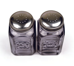 Retro Salt & Pepper Shaker Set - Gray