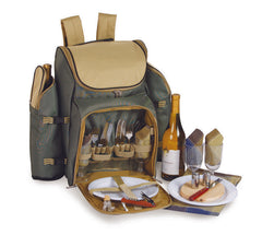 Oak & Olive Tandoor 4 Person Deluxe Picnic Backpack (Sage)