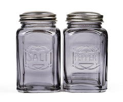 RSVP Retro Salt & Pepper Shaker Set - Gray