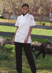 Women's Chef Coat Tahoe Wht LG