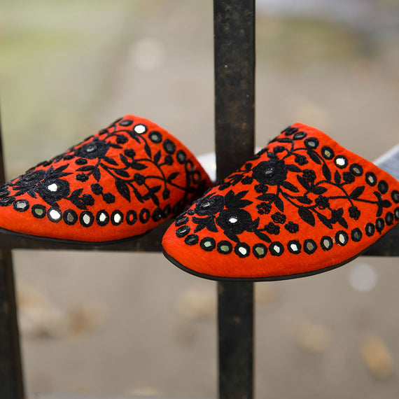Alani - JUJU by Jyoti Sardar - handmade hand embroidered vegan shoes for women