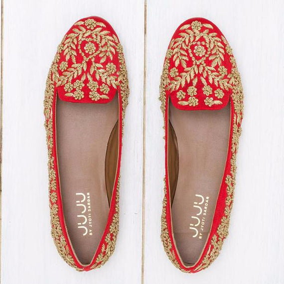 Heer - JUJU by Jyoti Sardar - handmade hand embroidered vegan shoes for women