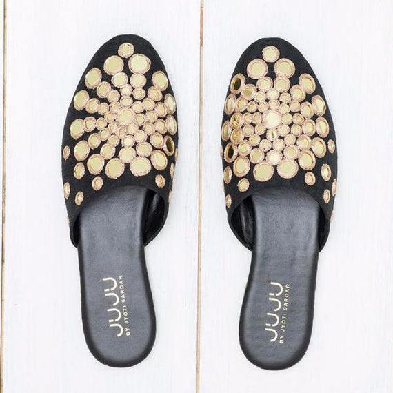 Mira - JUJU by Jyoti Sardar - handmade hand embroidered vegan shoes for women