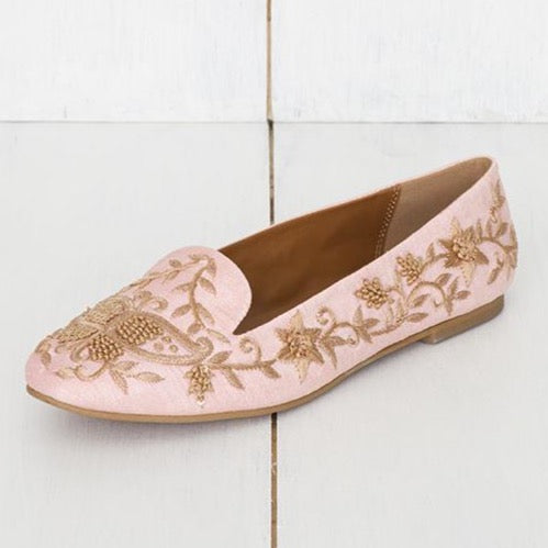 Rosa - JUJU by Jyoti Sardar - handmade hand embroidered vegan shoes for women