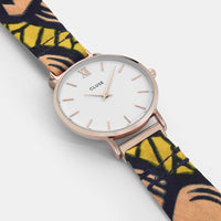 CLUSE x Mino Design Minuit Rose Gold White​/​Bow Wow CL30057 - watch case detail