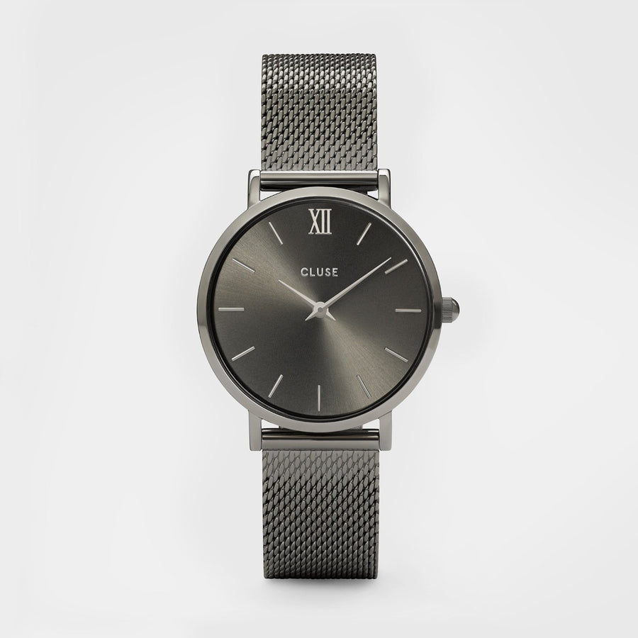 CLUSE Minuit Mesh Dark Grey CL30067 - Montre