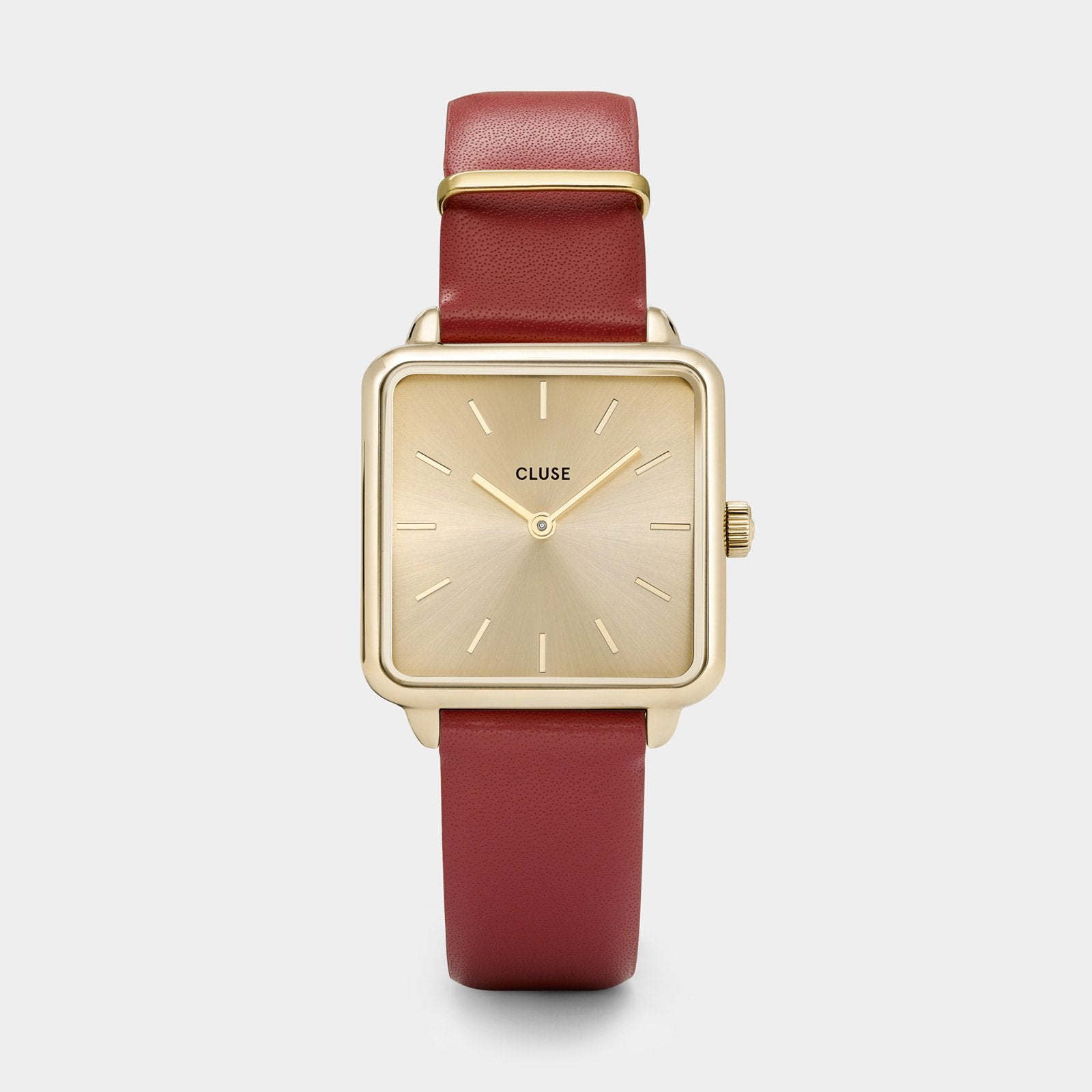 CLUSE La Tétragone Gold/Scarlet Red CL60009 - Montre