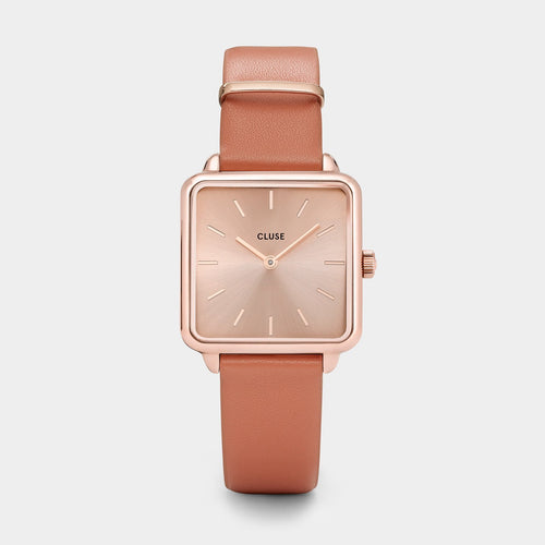Image: CLUSE La Tétragone Rose Gold/Butterscotch CL60010 - Montre