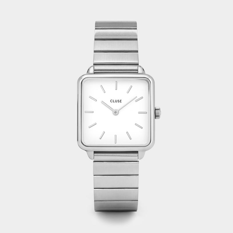 CLUSE La Tétragone Single Link Silver/White CL60022S - Montre