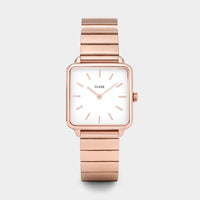 CLUSE La Tétragone Single Link Rose Gold/White CL60024S - Montre