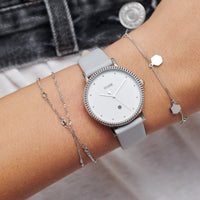 CLUSE Essentielle Silver Hexagon Charms Chain Bracelet CLJ12018 - Bracelet on wrist