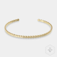 CLUSE Essentielle Gold All Hexagons Bangle Bracelet CLJ11017 - Bracelet