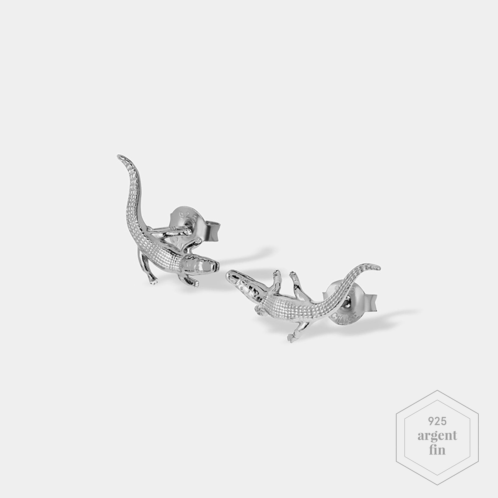 CLUSE Force Tropicale Silver Alligator Stud Earrings CLJ52018 - Boucles d'oreilles