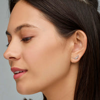 CLUSE Force Tropicale Silver Alligator Stud Earrings CLJ52018 - Boucles d'oreilles en oreille