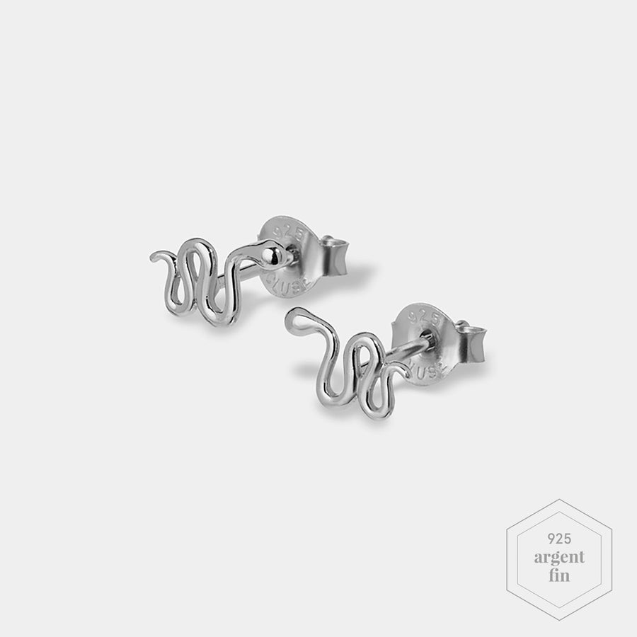 CLUSE Force Tropicale Silver Snake Stud Earrings CLJ52020 - Boucles d'oreilles