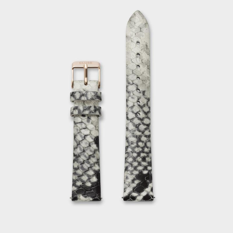 CLUSE 16 mm Strap White Python/Rose Gold CLS387 - Bracelet-montre