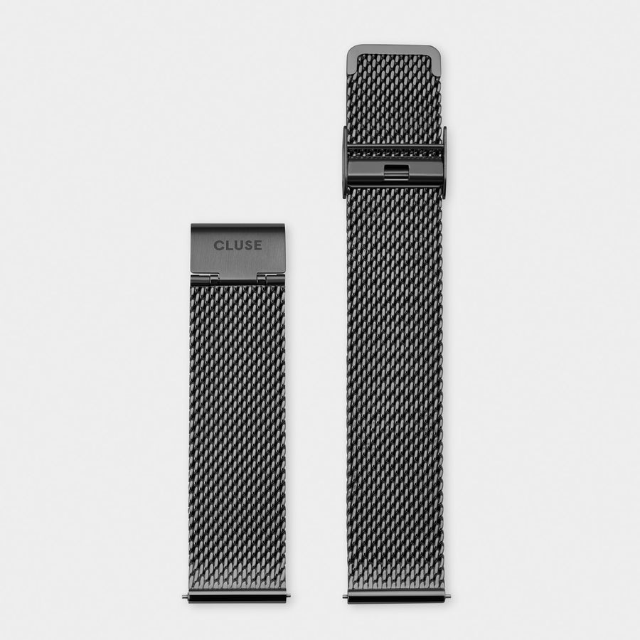 CLUSE Strap 20 mm Mesh, Black CS1401101064 - bracelet-montre