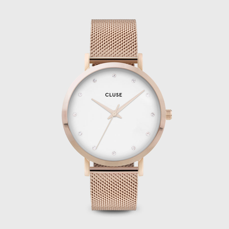 CLUSE Pavane Mesh Rose Gold White/Rose Gold CW0101202002 - Montre