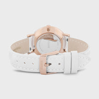 CLUSE Minuit Leather Rose Gold White/White White CW0101203021 - Fermoir et dos de la montre