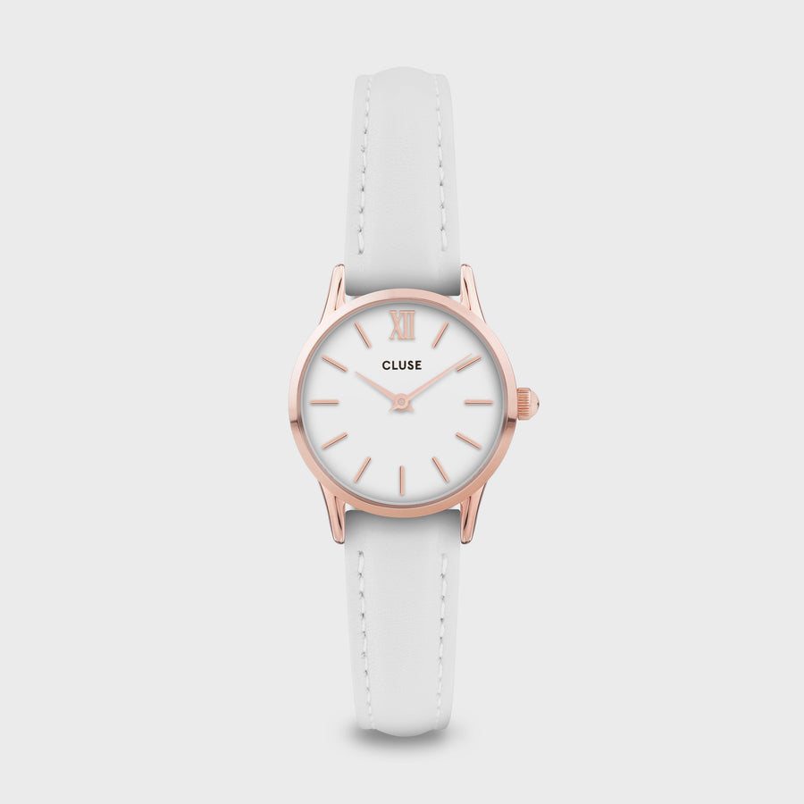 CLUSE La Vedette Leather Rose Gold White/White CW0101206005 - Montre