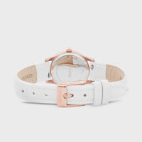 CLUSE La Vedette Leather Rose Gold White/White CW0101206005 - Fermoir et dos de la montre