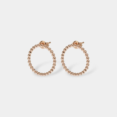 Image: CLUSE Essentielle Rose Gold Open Circle Embellished Stud Earrings CLJ50007 - Boucles d'oreilles