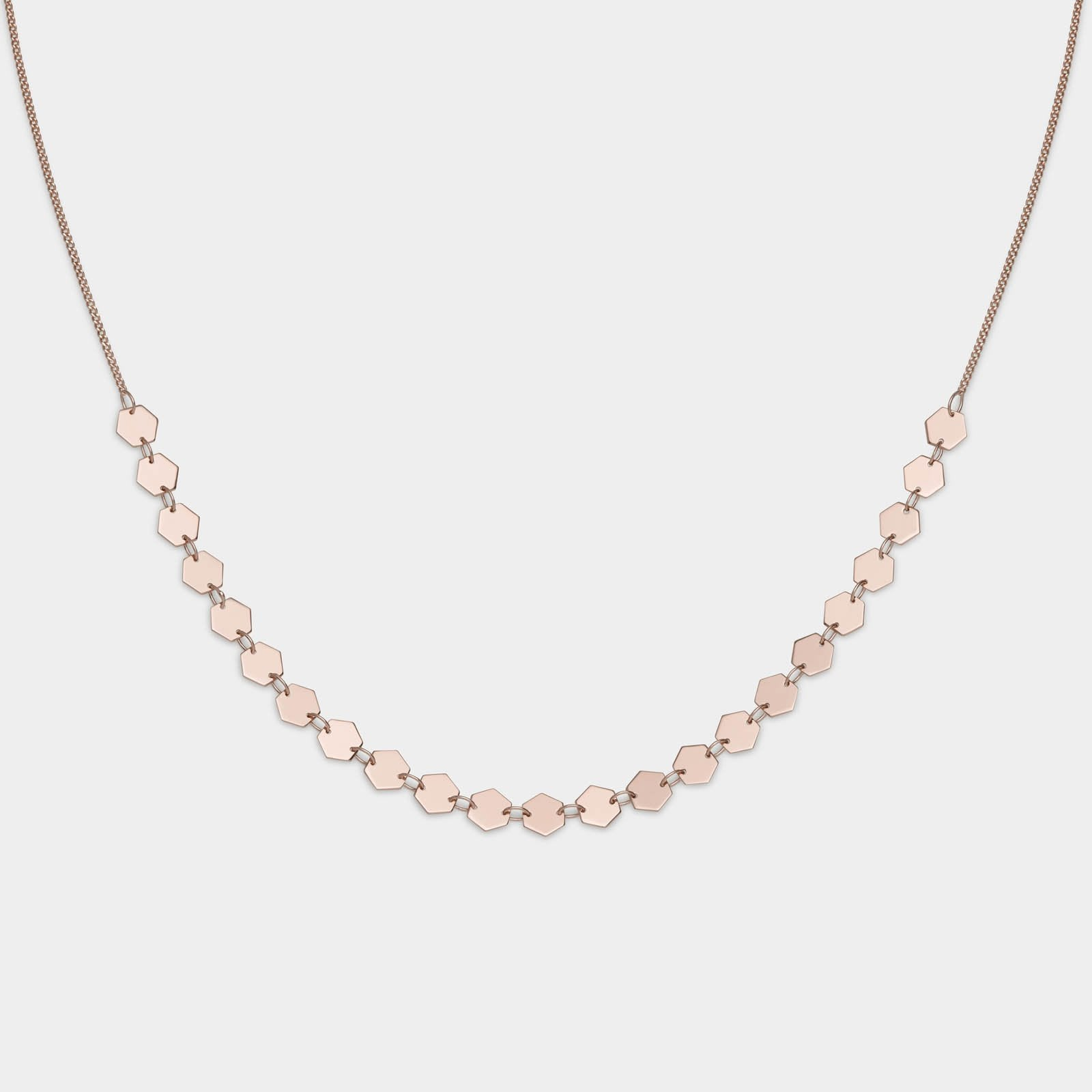 CLUSE Essentielle Rose Gold All Hexagons Choker Necklace CLJ20003 - Collier