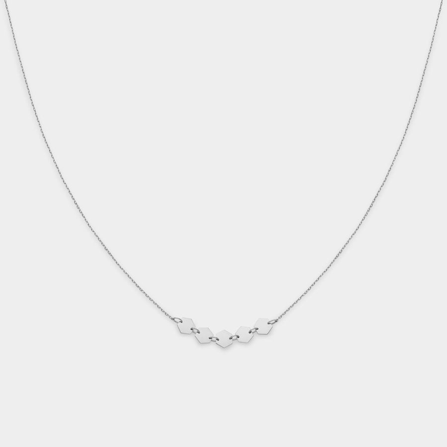 CLUSE Essentielle Silver Hexagons Necklace CLJ22001 - Collier