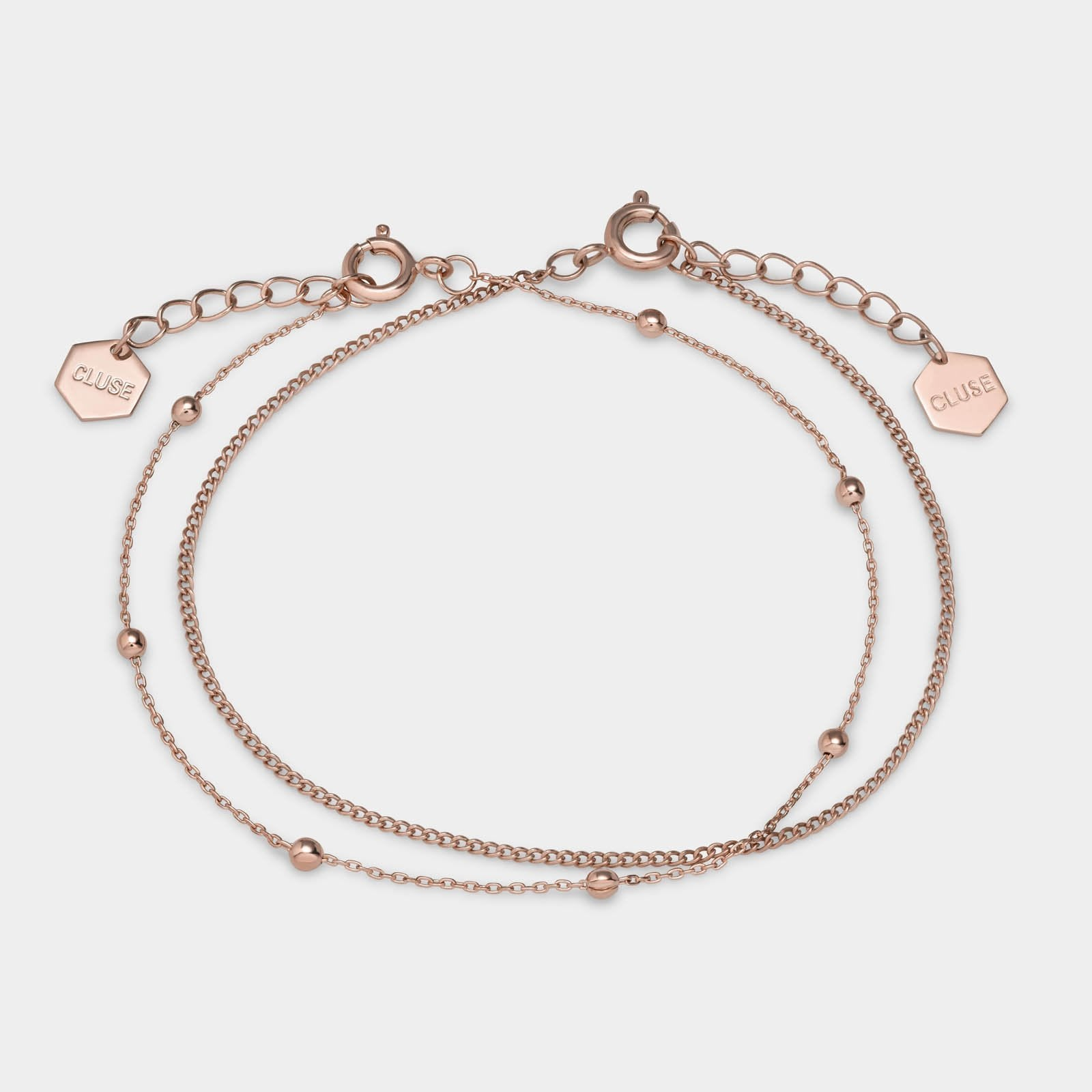 CLUSE Essentielle Rose Gold Set of Two Fine Bracelets CLJ10010 - Bracelet