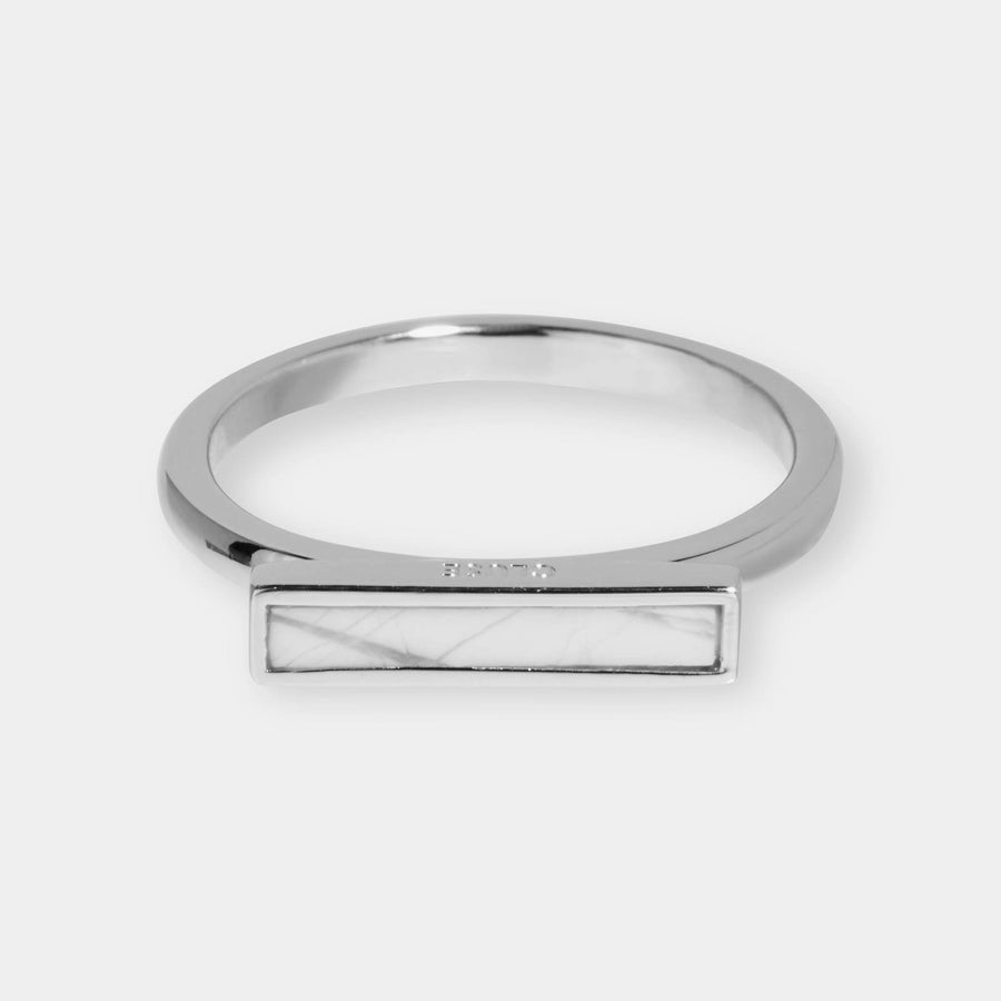 CLUSE Idylle Silver Marble Bar Ring-54 CLJ42002-54 - Bagues taille 54